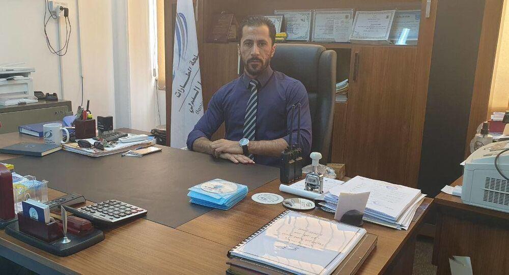 مدير مكتب الشؤون الإدارية والمالية بمطار بنينا الدولي أسامة منصور الفرجاني