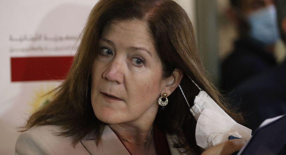 السفيرة الأمريكية لدى لبنان دوروثي شيا