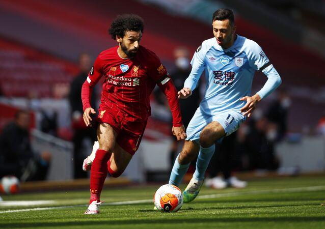 لاعب نادي كرة قدم لنادي ليفربول محمد صلاح، يوليو 2020