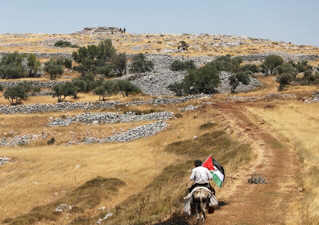 احتجاجات ضد خطة الضم الإسرائيلية لأراضي الضفة الغربية،عناصر القوات الإسرائيلية، في لدة عصيرة الشماليّة، يوليو 2020