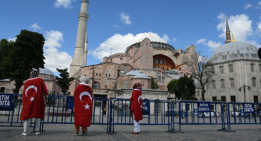 آيا صوفيا، اسطنبول، تركيا يوليو 2020