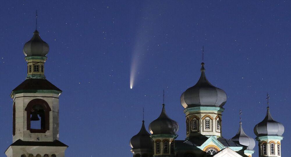 مذنب نيو ويز (NEOWISE)، 14 يوليو 2020 في بيلاروسيا