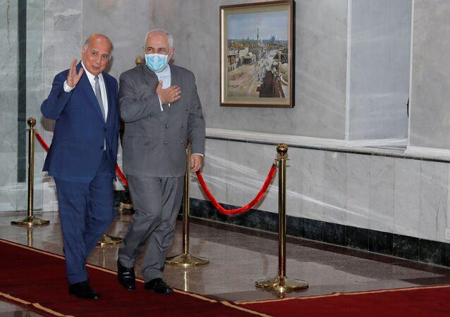 وزيرخرجية إيران في زيارة إلى بغداد مع وزير خارجية العراق فؤاد حسين