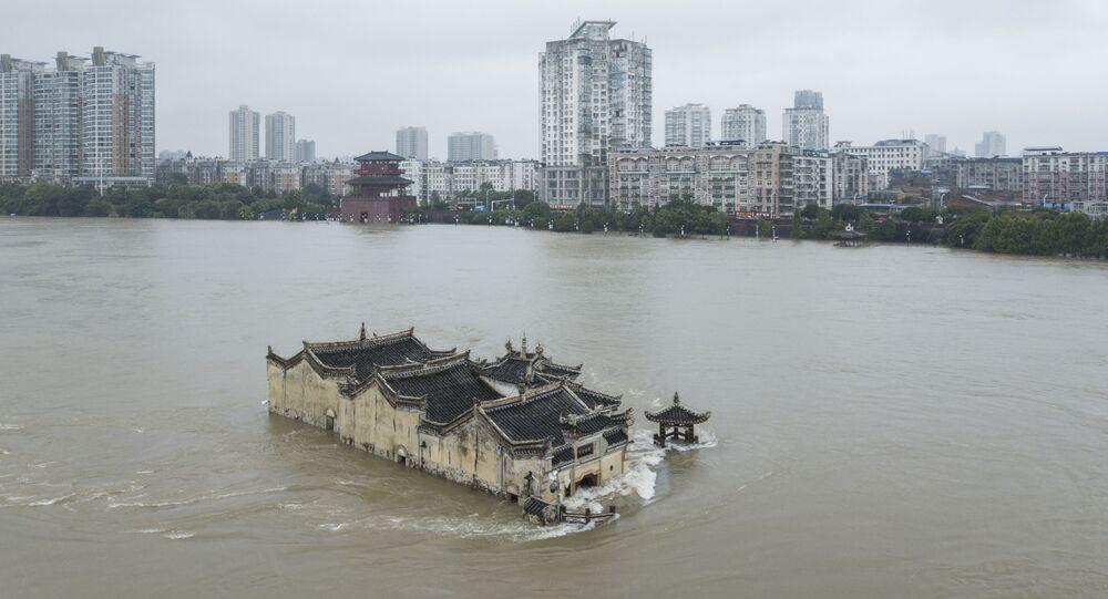 فيضانات آسيا - الصين 18يوليو 2020