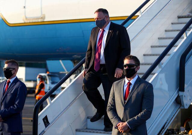 وزير الخارجية الأمريكي مايك بومبيو في زيارة لبريطانيا