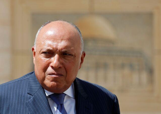وزير الخارجية المصري سامح شكري في رام الله، الضفة الغربية 20 يوليو 2020