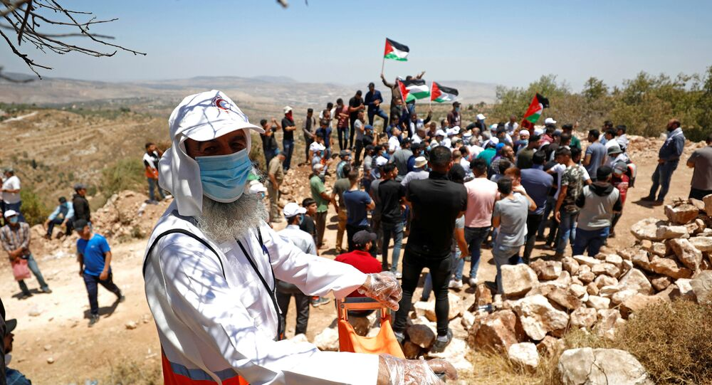 مظاهرات ضد خطة ضم إسرائيل لأراضي الضفة الغربية، عصيرة الشمالية، يوليو 2020