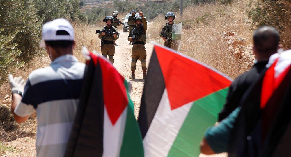 مظاهرات ضد خطة ضم إسرائيل لأراضي الضفة الغربية، بلدة بيتا الفوقا، يوليو 2020
