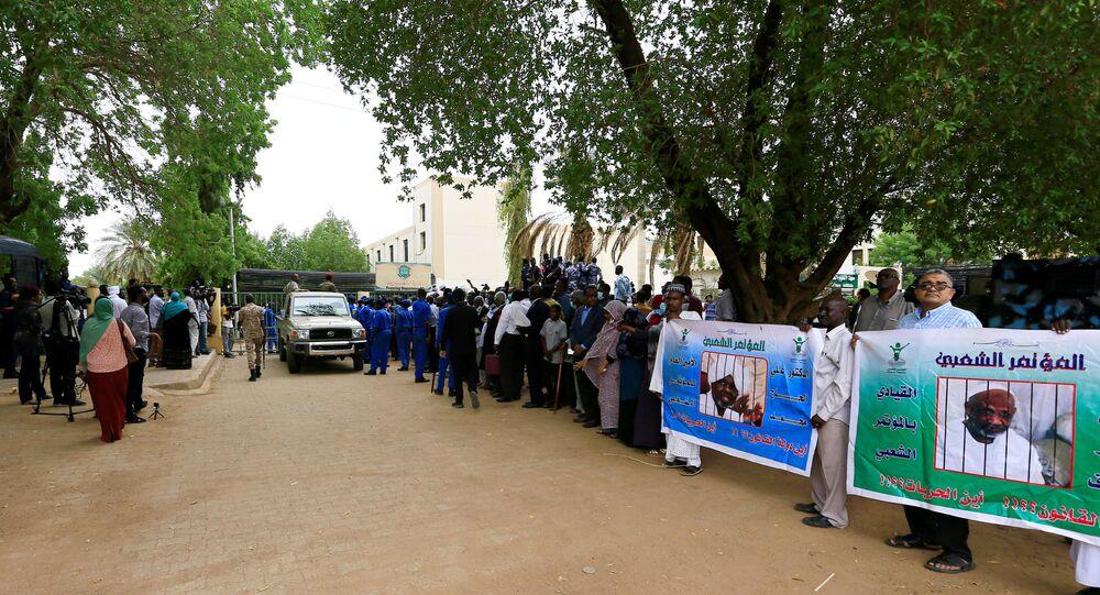 محاكمة الرئيس السوداني السابق، عمر البشير، الخرطوم، السودان 21 يوليو 2020