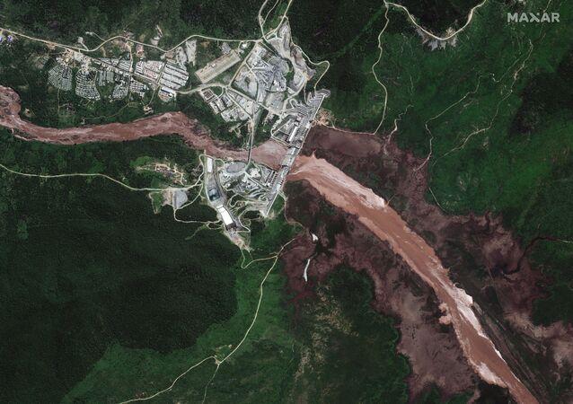 صورة أقمار صناعية جديدة تظهر سد النهضة، إثيوبيا 26 يونيو 2020