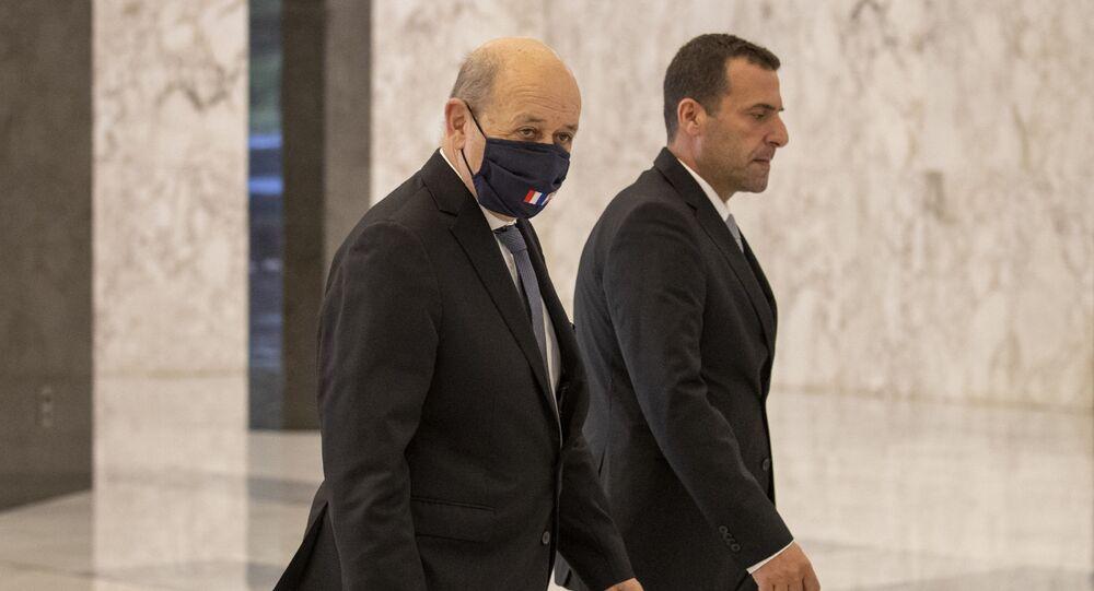 وزير الخارجية الفرنسية جان إيف لودريان في لبنان