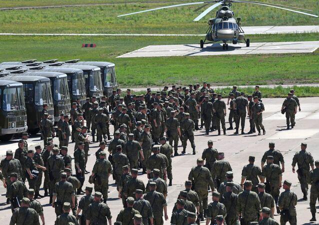 مناورات الجيش الروسي في إقليم ما وراء بايكال، زابايكاليه، روسيا 22 يوليو 2020