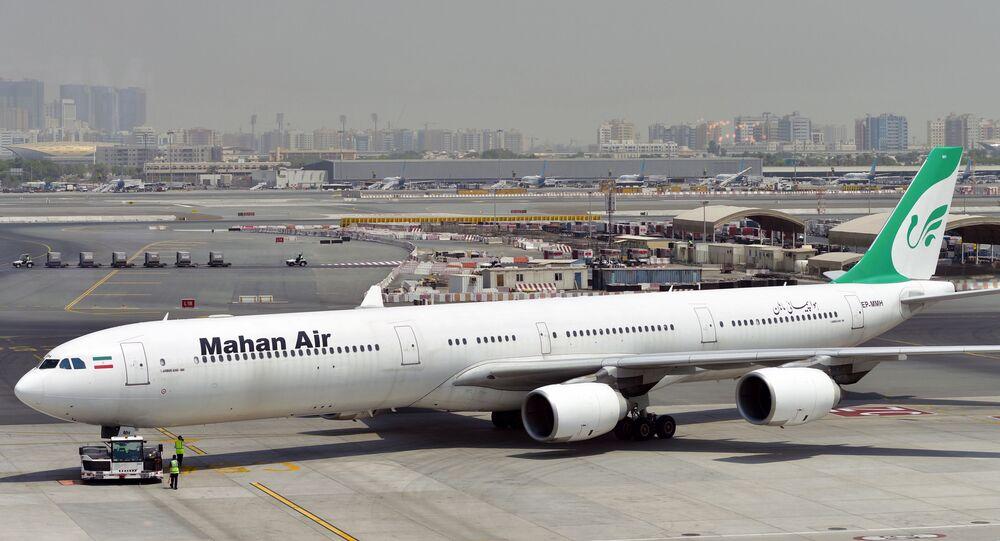 طائرة ركاب إيرانية تابعة لشركة طيران ماهان