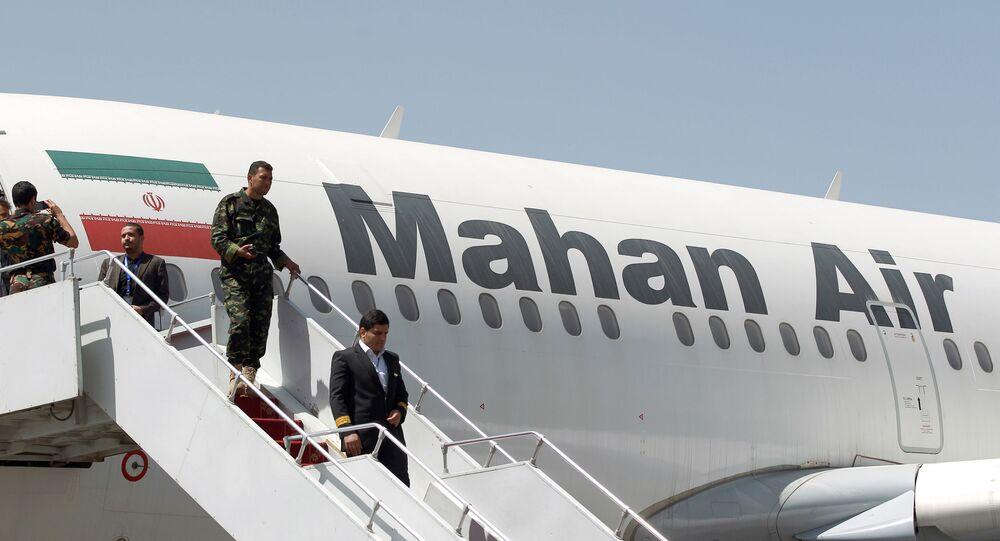 طائرة ركاب إيرانية تابعة لشركة ماهان أير