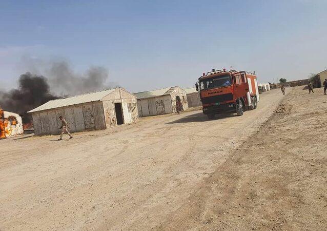 معسكر بسماية في العاصمة العراقية بغداد