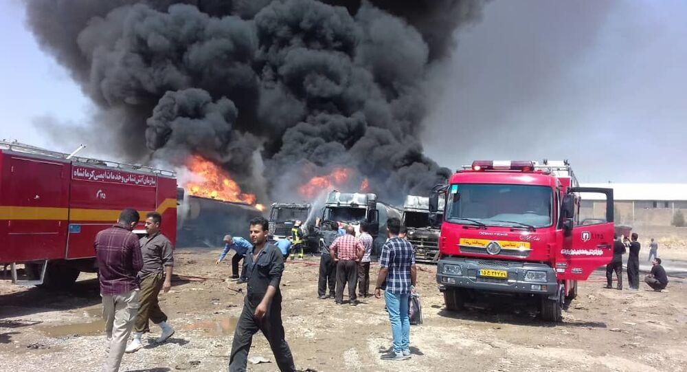 انفجار بإقليم كرمنشاه، إيران 28 يوليو 2020