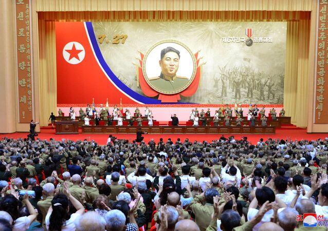 احتفالات كوريا الشمالية بالذكرى الـ67 لتوقيع معاهدة السلام التي وضعت نهاية للحرب ضد جارتها كوريا الجنوبية، 27 يوليو 2020