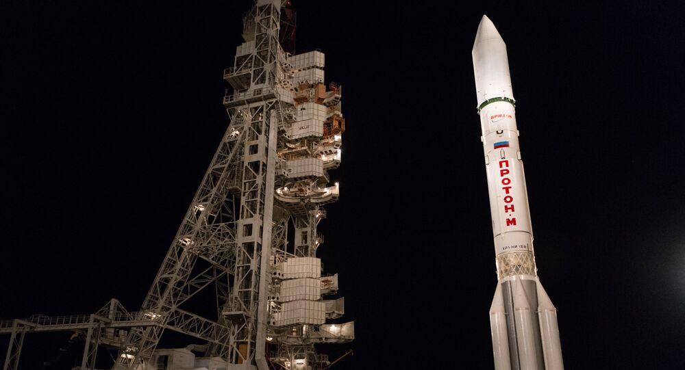 إطلاق صاروخ حامل بروتون-اممن مركز الفضاء بايكانور، كازاخستان 31 يوليو 2020