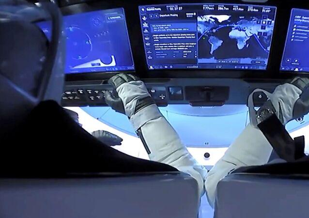 عودة مركبة كريو دراغون (Crew Dragon) في المحيط الأطلسي، ناسا، 2 أغسطس 2020
