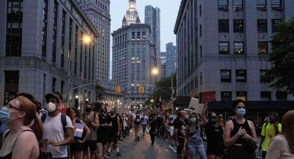 احتجاجات حياة السود مهمة في مدينة نيويورك، الولايات المتحدة 30 يوليو 2020