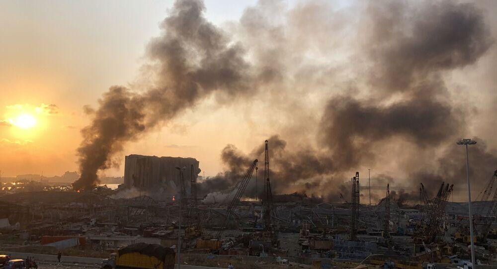 انفجار مرفأ بيروت في لبنان