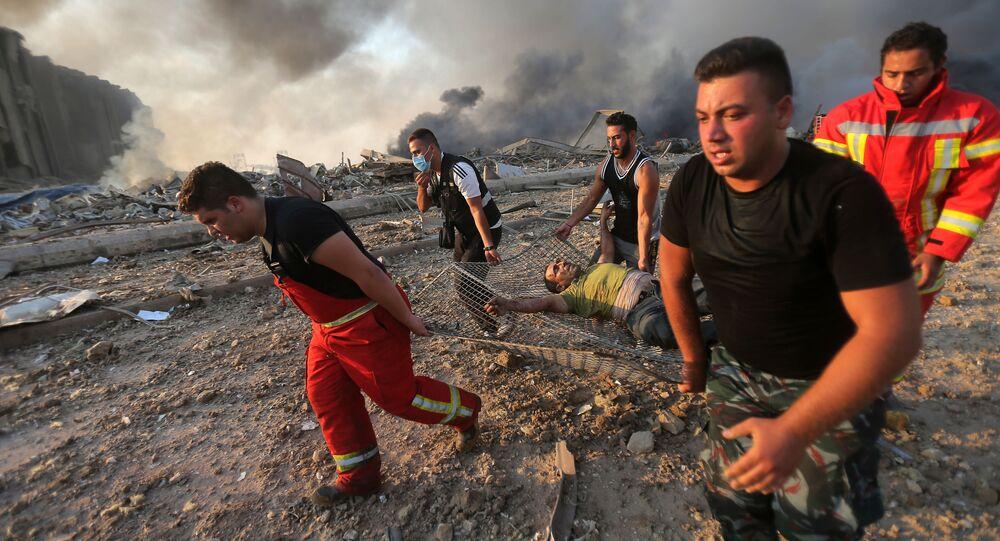 إنفجار في بيروت، لبنان 4 أغسطس/ آب 2020