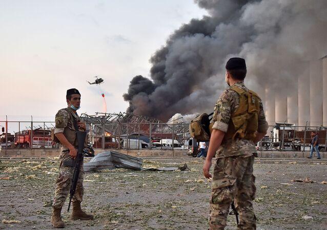 انفجار في مرفأ بيروت