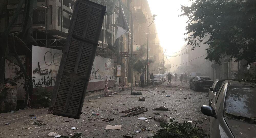 تداعيات انفجار مرفأ بيروت، لبنان 4 أغسطس/ آب 2020