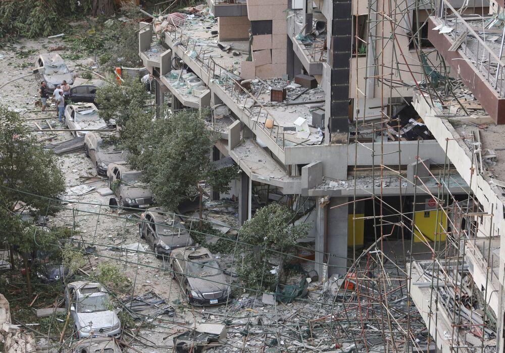 تداعيات انفجار مرفأ بيروت، لبنان 5 أغسطس/ آب 2020