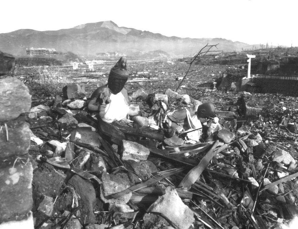 مشهد يطل على مدينة ناغازاكي المدمرة، 24 سبتمبر/ أيلول 1945