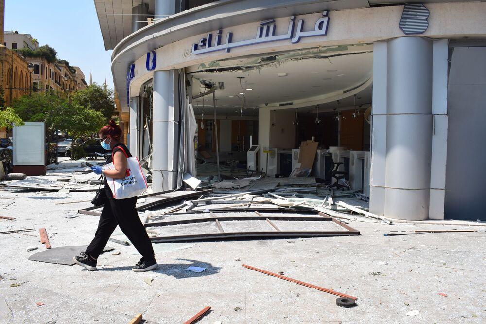 آثار الانفجار في محيط مرفأ بيروت، لبنان 5 أغسطس/ آب 2020