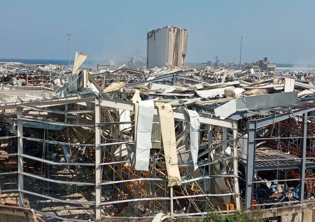 مشاهد دمار مرفأ بيروت، لبنان 5 أغسطس 2020