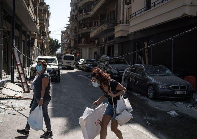 آثار انفجار مرفأ بيروت، لبنان 6 أغسطس/ آب 2020