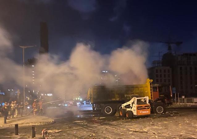 أضرار وسط بيروت بعد انفجار مرفأ بيروت، لبنان 8 أغسطس 2020