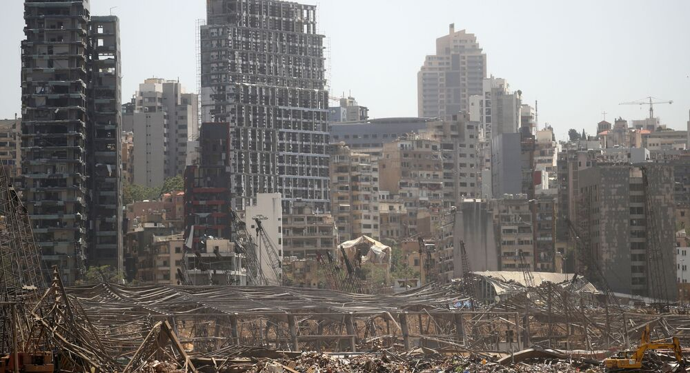 صورة تكشف الدمار الذي حل بمرفأ بيروت والمناطق المحيطة به بعد الانفجار
