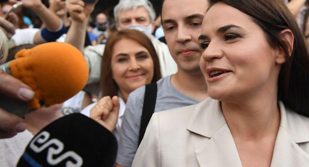 المرشحة للانتخابات البيلاروسية سفيتلانا تيخانوفسكايا