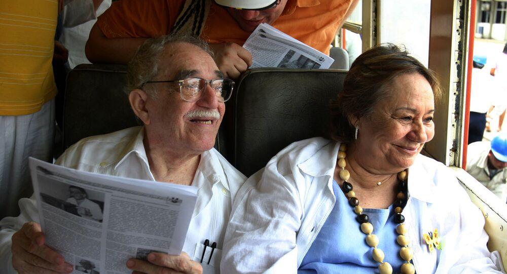 الروائي غارسيا ماركيز وزوجته مرسيدس بارشا