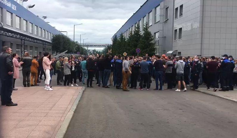 إضراب موظفي مصنع بيلاز في مينسك