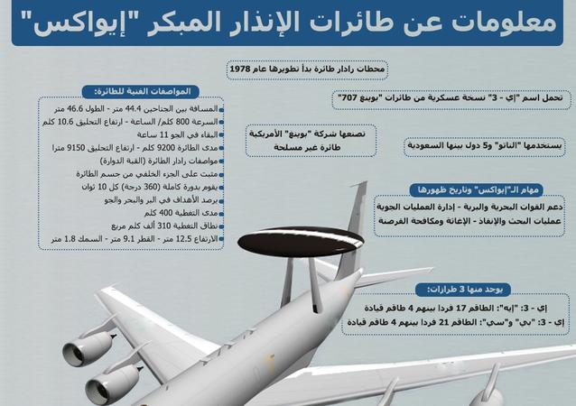معلومة عن طائرات الإنذار المبكر إيواكس