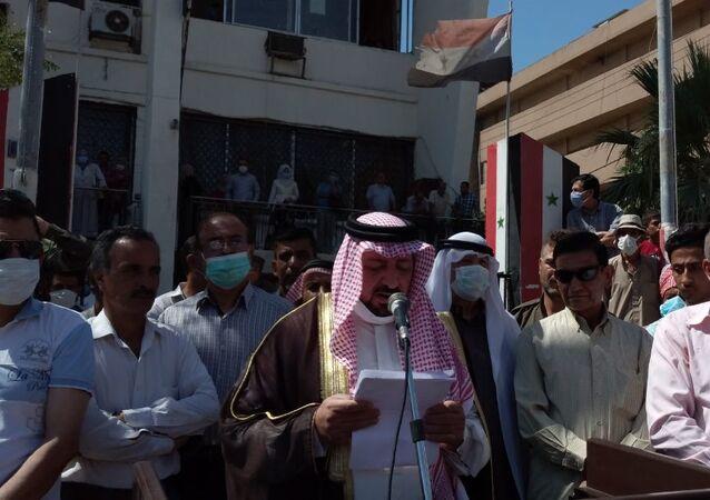 تظاهر المئات من سكان مدينتي الحسكة والقامشلي في محافظة الحسكة السورية رفضاً للتواجد الأمريكي