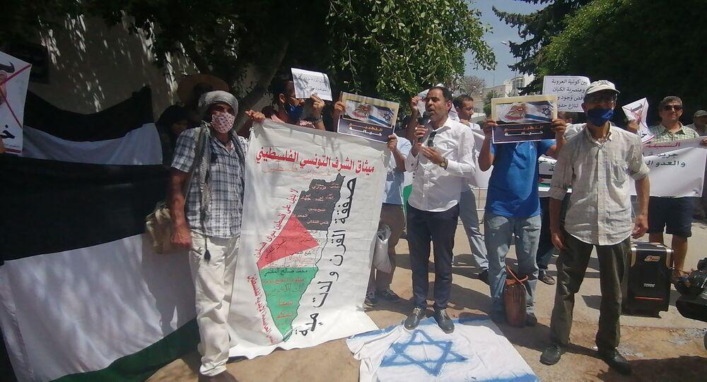 تنديد واسع في تونس باتفاق السلام بين الإمارات واسرائيل