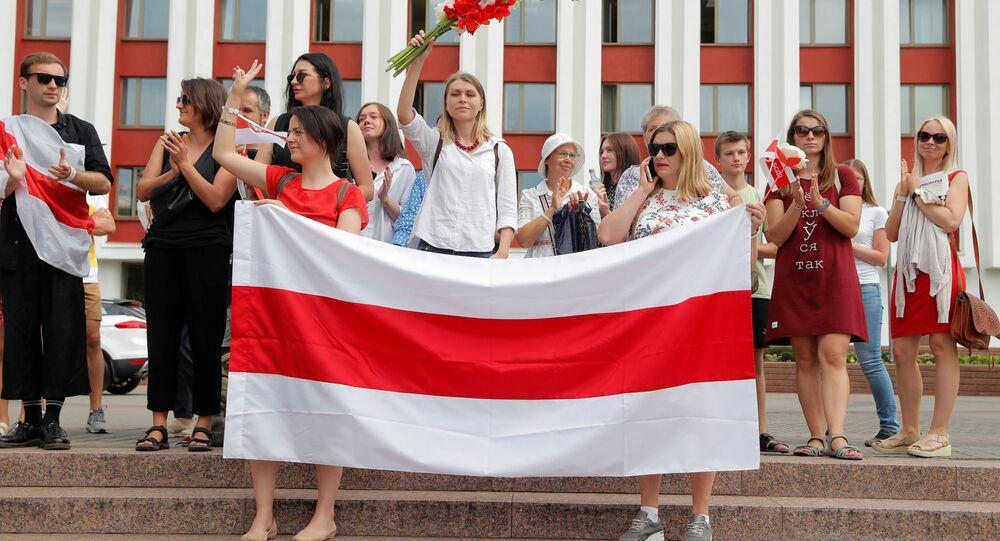احتجاجات في بيلاروسيا أمام مبنى وزارة الخارجية