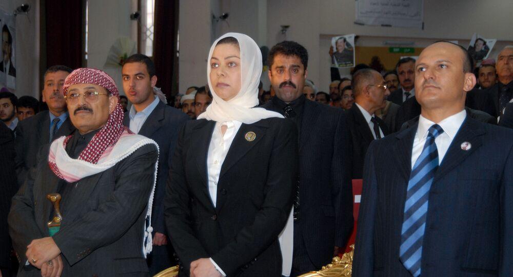 رغد صدام حسين ابنة الرئيس العراقي الراحل صدام حسين
