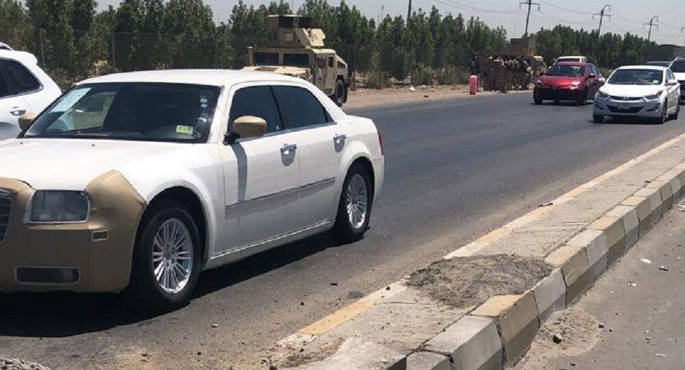 أول قتيل إثر تفجير استهدف مركبة للقوات الأمريكية جنوبي بغداد ..صور