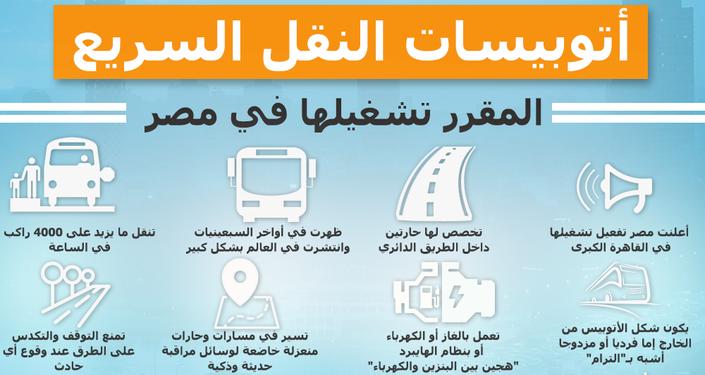 إنفوجرافيك..أتوبيسات النقل السريع في مصر