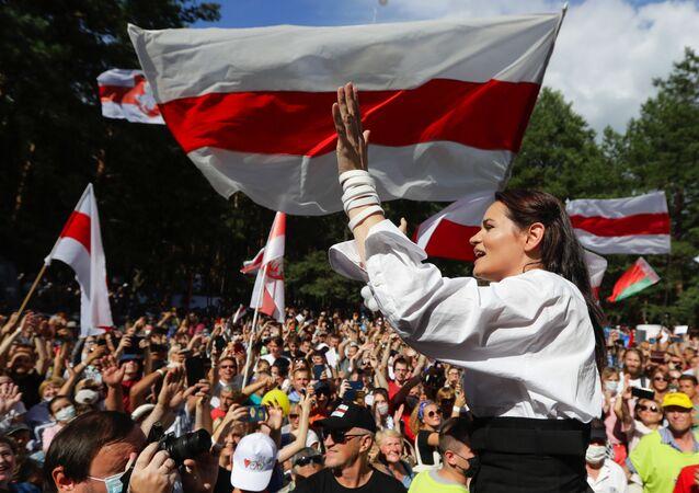 مرشحة للانتخابات الرئاسية البيلاروسية سفيتلانا تيخانوفسكايا