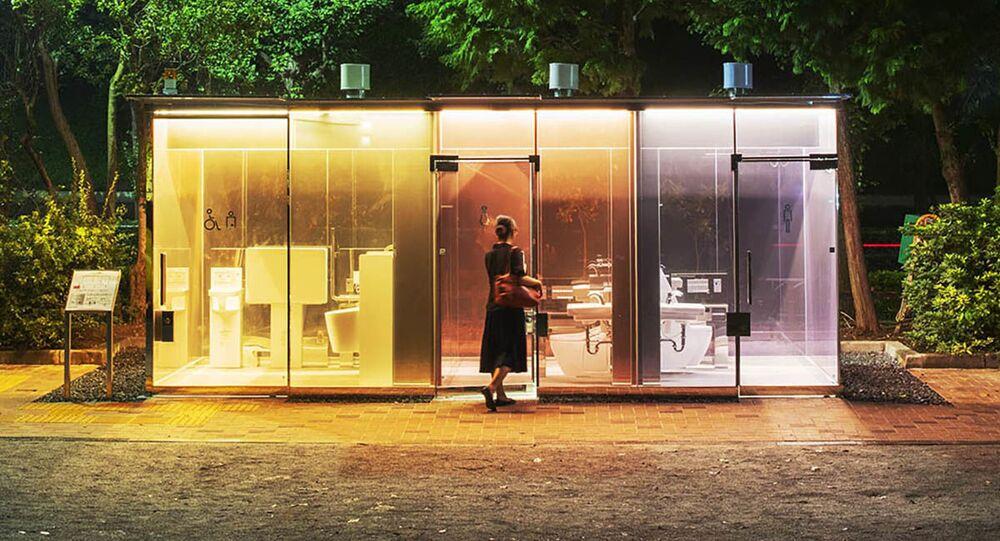 مراحيض شفافة في منتزهات طوكيو
