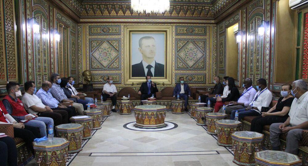 لقاء ممثل منظمة اليونسيف الدكتور بو فيكتور نيلوند في الحكسة، سوريا 24 أغسطس 2020