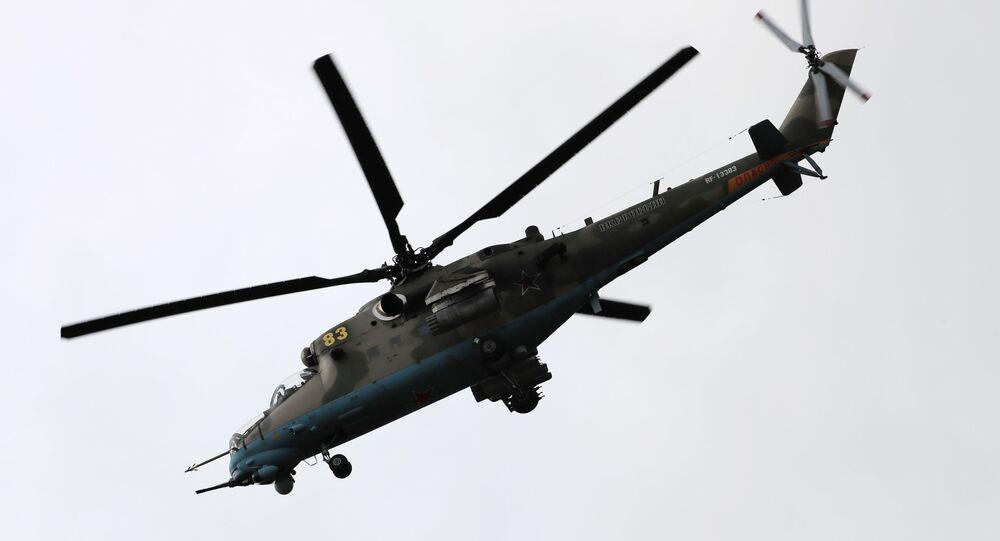 منتدى أرميا 2020 في حقل ألابينو العسكري في ضواحي موسكو - مروحية مي - 35