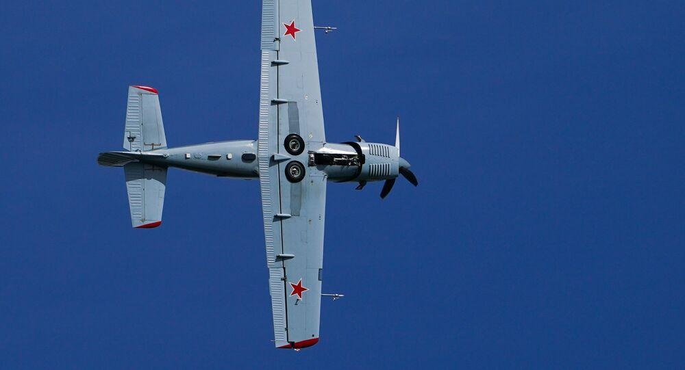 عرض جوي عسكري في منتدى أرميا 2020 في كوبينكا بضواحي موسكو - طائرة تدريب ياك - 152